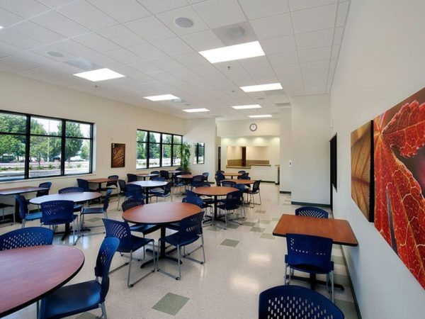 Portland, OR Surgical Training Facility dining area