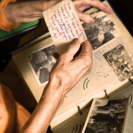 Old Woman Hands. Old Photos. Family Photo Album. Vintage Photo. Remembering a loved one who did body donation