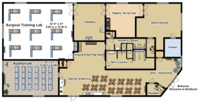 MedCure's Henderson Surgical Training Facility Floorplan