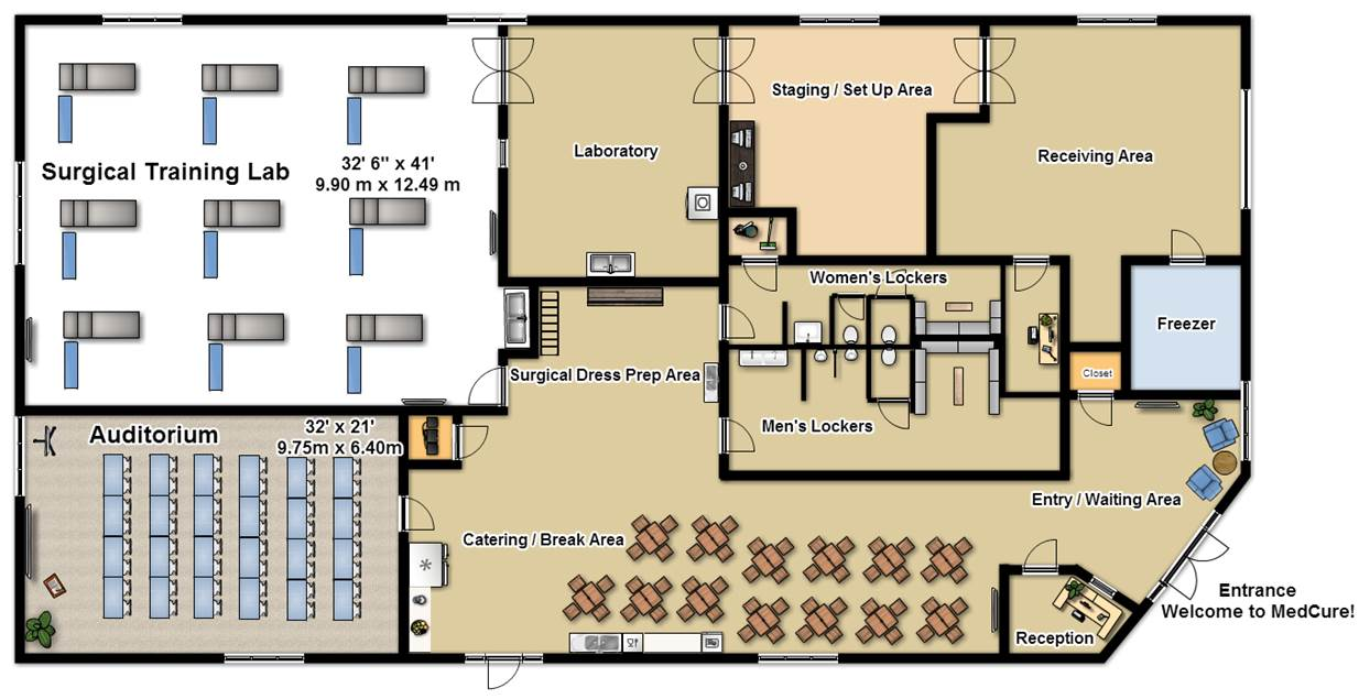 MedCure's Henderson Surgical Training Facility Floorplan